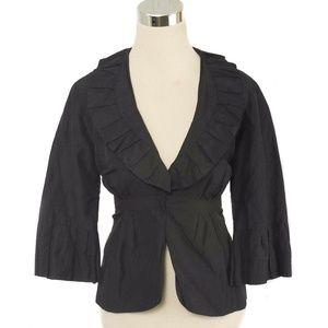 CAbi #693 Cosette Black Portrait Collar Blazer